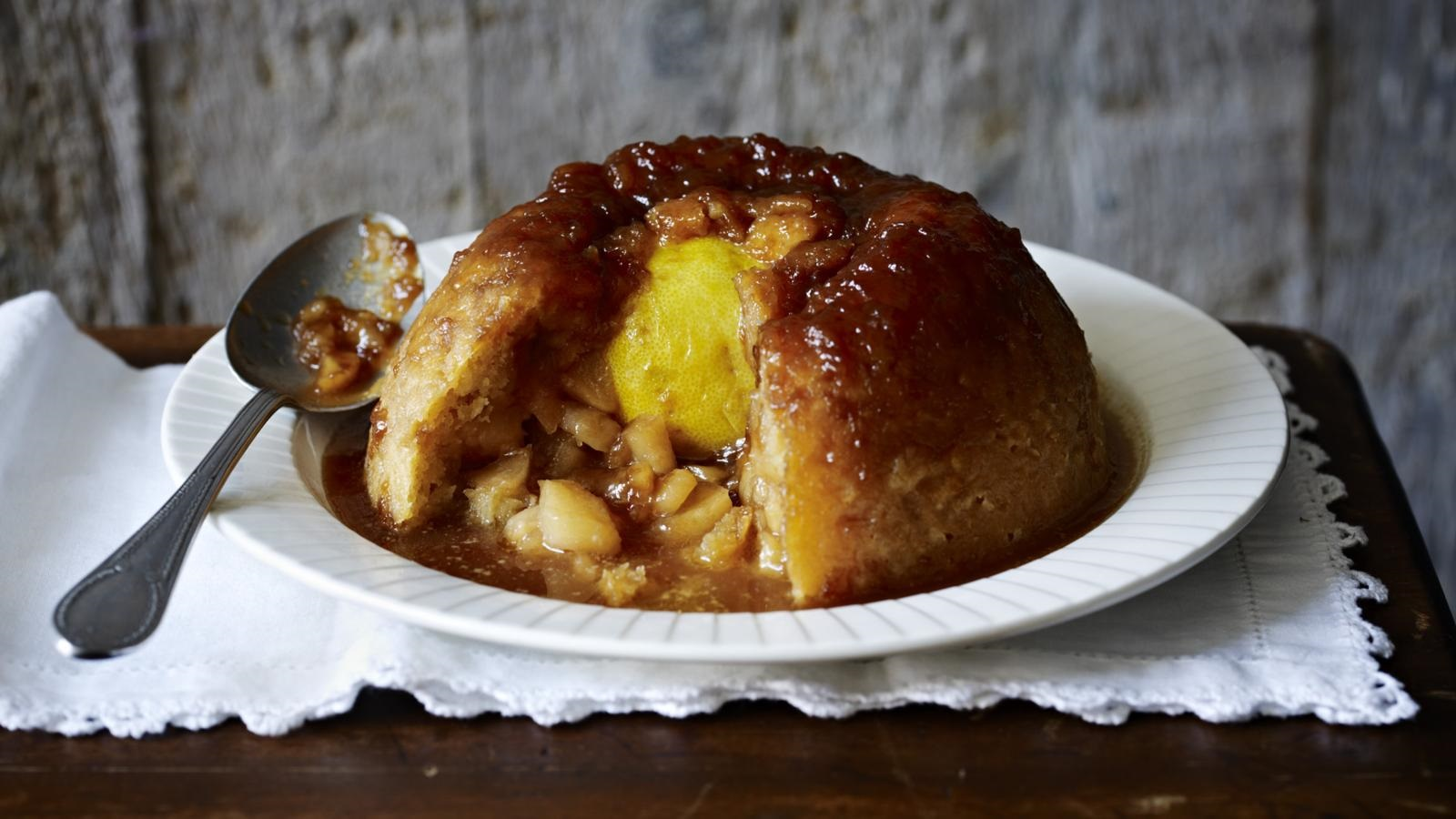 Favourite English puddings Sussex Pond Pudding with apples